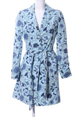 Hilfiger Denim Trenchcoat blau Blumenmuster Casual-Look