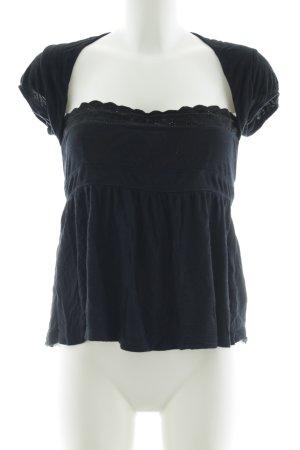 Hilfiger Denim Boatneck Shirt black casual look
