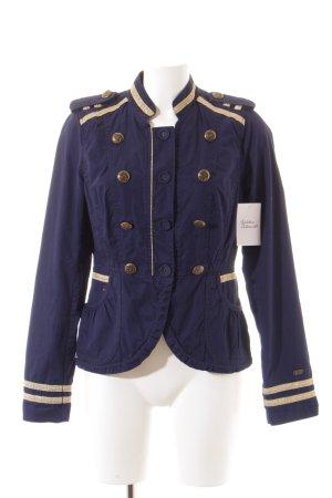 Hilfiger Denim Übergangsjacke dunkelblau-goldfarben Military-Look