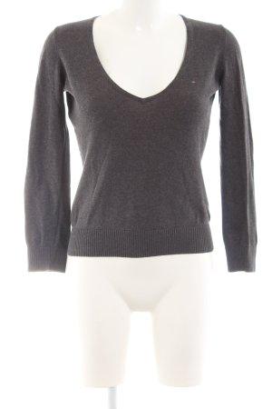 Hilfiger Denim V-Ausschnitt-Pullover hellgrau Casual-Look