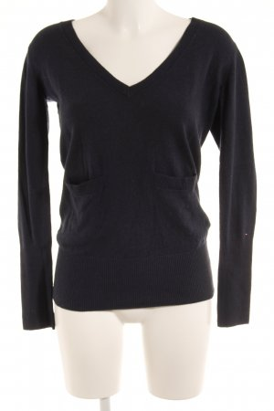 Hilfiger Denim V-Ausschnitt-Pullover dunkelblau Casual-Look