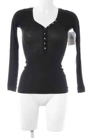 Hilfiger Denim V-Ausschnitt-Pullover schwarz Casual-Look