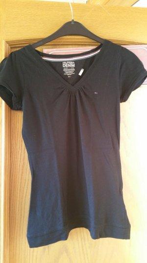 Hilfiger Denim V-Ausschnitt Shirt - einfarbig
