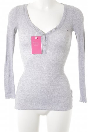 Hilfiger Denim V-Ausschnitt-Shirt hellgrau Casual-Look