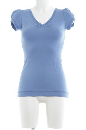 Hilfiger Denim V-Neck Shirt cornflower blue casual look