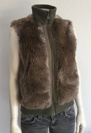 Hilfiger Denim Fur vest brown-khaki