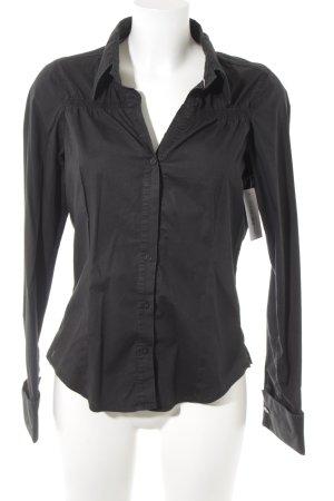 Hilfiger Hemd-Bluse schwarz Casual-Look