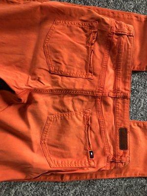 Tommy Hilfiger Stoffen broek donker oranje