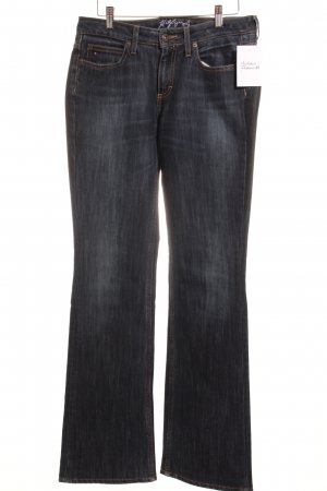 Hilfiger Jeansschlaghose dunkelblau 80ies-Stil