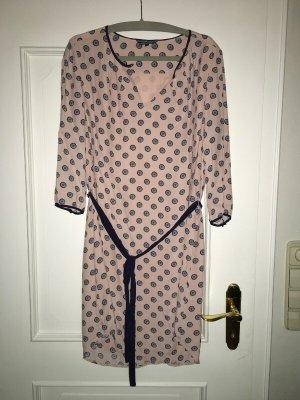 HILFIGER Kleid 40/42 Viskose , Rosa / Blau Neu , Luxus Pur.