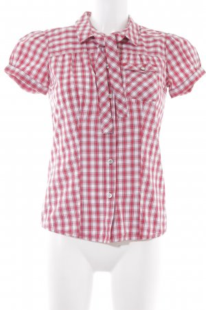 Hilfiger Kurzarm-Bluse Karomuster Casual-Look