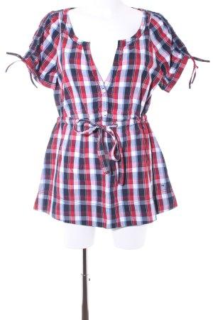 Hilfiger Shirt met korte mouwen geruite print casual uitstraling