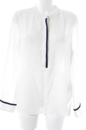 Hilfiger Langarm-Bluse creme-dunkelblau Elegant