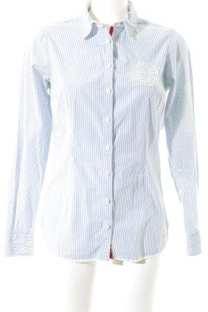Hilfiger Langarm-Bluse weiß-blau Streifenmuster Business-Look