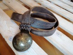 Hilfiger Denim Cintura di pelle marrone scuro-marrone-grigio Pelle