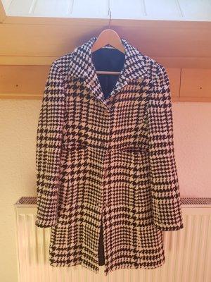 Tommy Hilfiger Short Coat white-black mixture fibre