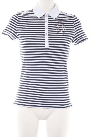 Hilfiger Camiseta tipo polo blanco-azul oscuro estampado a rayas look casual