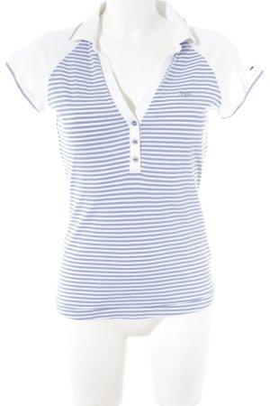 Hilfiger Polo bianco-azzurro motivo a righe stile casual