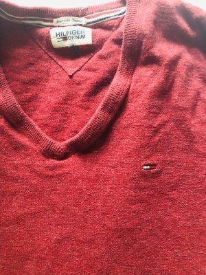 Tommy Hilfiger V-Neck Sweater red