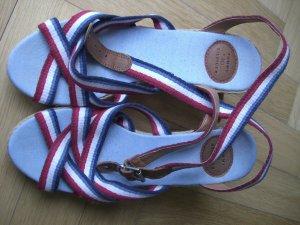 Hilfiger Plateauzool sandalen veelkleurig Textielvezel