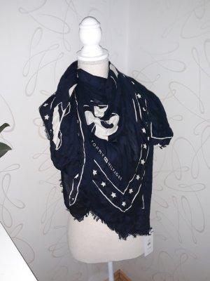 Hilfiger Schal dunkelblau NEU