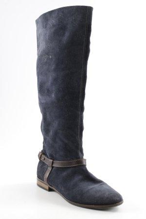 Hilfiger Slouch Stiefel dunkelblau-dunkelbraun Casual-Look