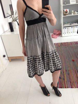 Hilfiger Sommerkleid s Karo schwarz weiß