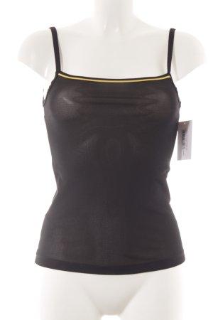 Hilfiger Sport Top con bretelline nero-giallo scuro stile casual
