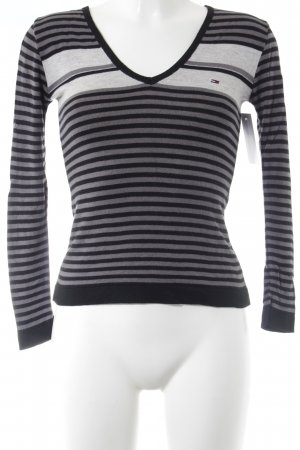 Hilfiger Sport V-Neck Sweater black-grey athletic style