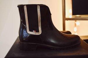 Tommy Hilfiger Wellington laarzen zwart-zilver