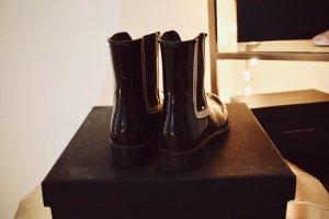 Tommy Hilfiger Botas de agua negro-color plata