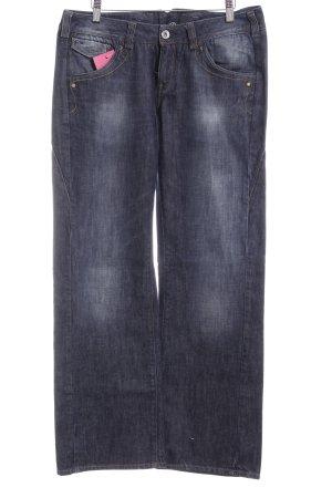 Hilfiger Jeans a gamba dritta blu scuro stile casual