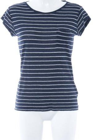 Hilfiger T-Shirt dunkelblau-weiß Streifenmuster Casual-Look
