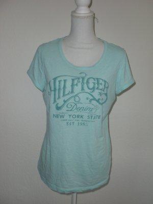 Hilfiger T-Shirt Gr. 40 - mintgrün