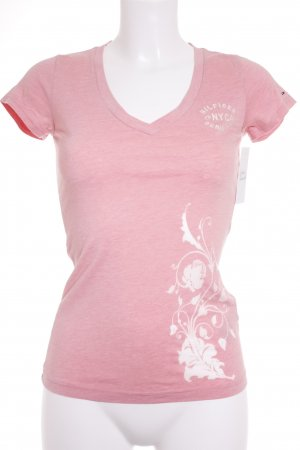 Hilfiger T-Shirt hellrosa florales Muster klassischer Stil