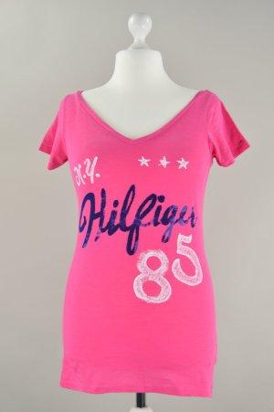 Hilfiger T-Shirt  mit Aufdruck pink Größe L