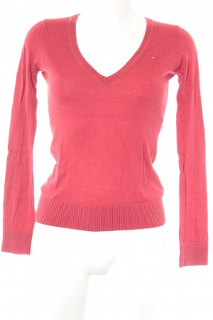 Hilfiger V-Neck Sweater red casual look
