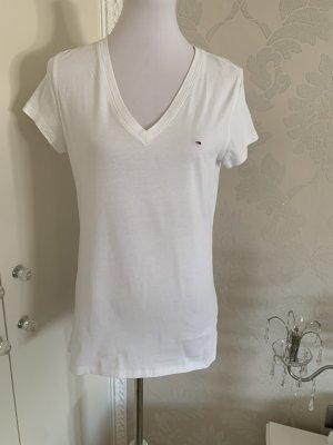 Hilfiger T-shirt col en V blanc
