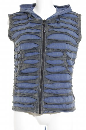 Himalaya Fringed Vest steel blue-grey second hand look