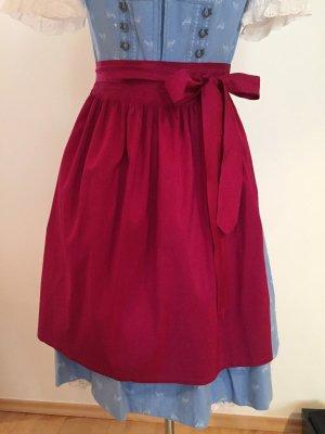 Traditional Apron raspberry-red-magenta silk