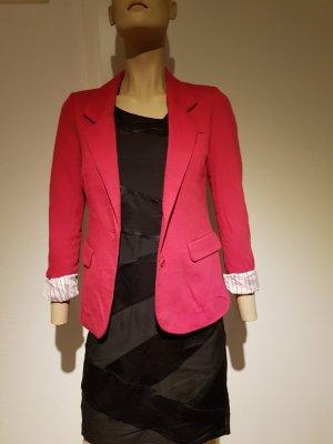 Himbeerfarbener Blazer aus Shirt-Stoff von Vero Moda