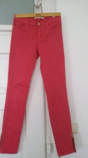 himbeerrote  Skinny Jeans von Zars