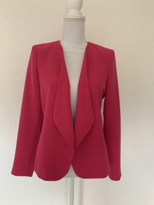 Mango Jersey Blazer rojo frambuesa