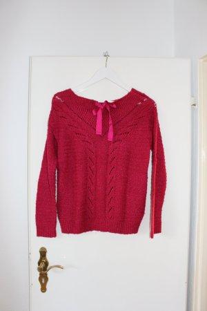 Himbeerroter Pullover von Bershka