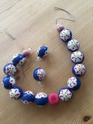 Collana multicolore Legno