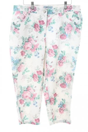 Himmelblau 3/4 Length Trousers flower pattern casual look