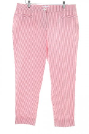 Himmelblau 3/4 Length Trousers natural white-brick red striped pattern