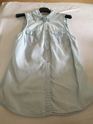 Himmelblau, Babyblau Bluse von Only, Größe 36