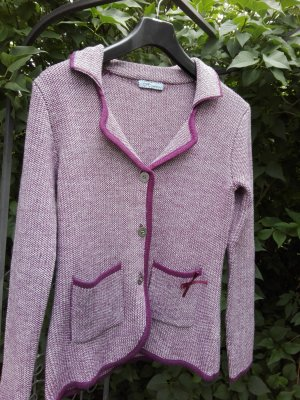 Himmelblau by Lola Paltinger Traditional Jacket purple-oatmeal synthetic fibre