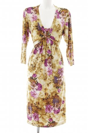 Himmelblau by Lola Paltinger Langarmkleid florales Muster klassischer Stil
